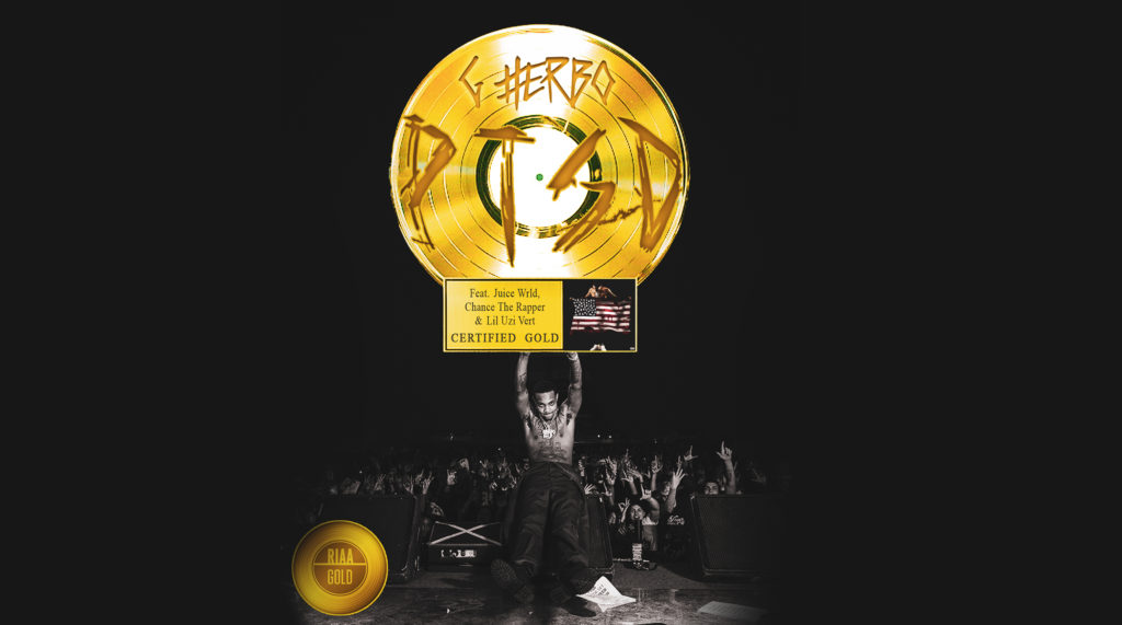 """G HERBO RECEIVES GOLD CERTIFICATION FOR """"PTSD"""" FEATURING CHANCE THE RAPPER, JUICE WRLD, & LIL UZI VERT"""